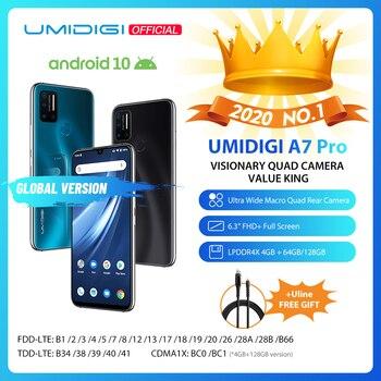 En Stock UMIDIGI A7 Pro Quad Cámara Android 10 OS 6,3