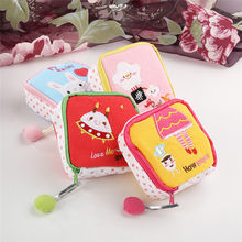 New arrival Girl's Cute Cartoon Sanitary Napkin Towel Pads Small Bag Purse Holder Organizer AC31(China)