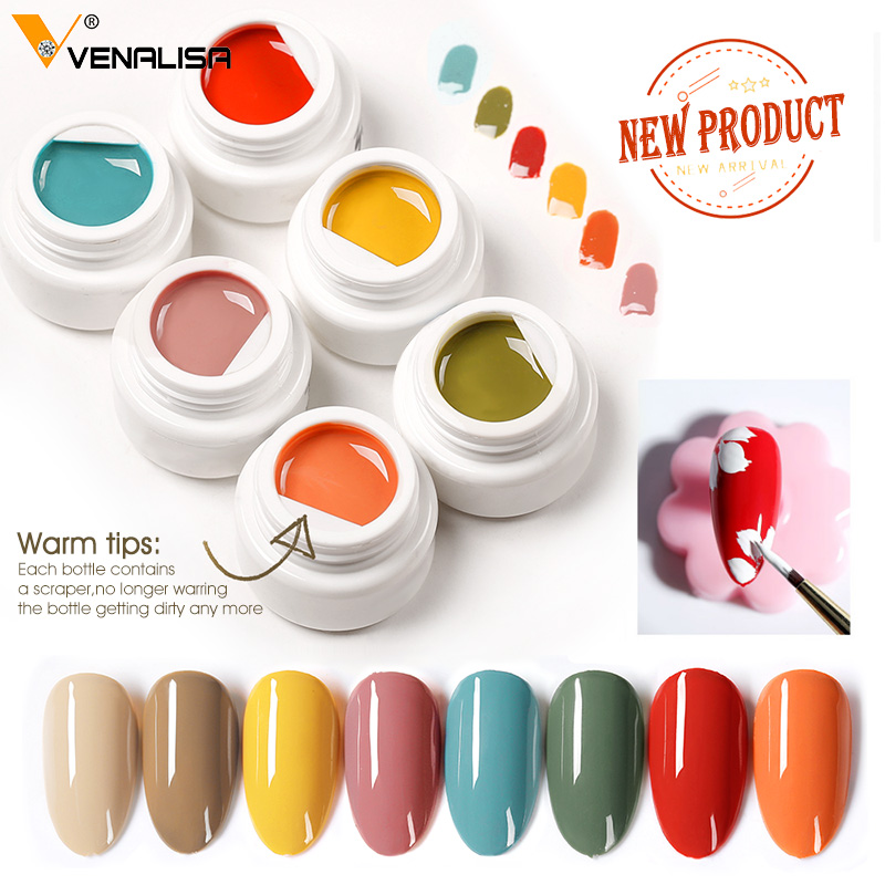 VENALISA цветной грязевой гель 2021 новейший чистый цветной гель для краски DIY Дизайн ногтей качественный гель для ногтей лак для маникюра УФ-лак