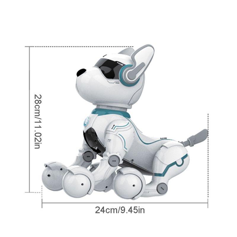 robo de controle remoto brinquedo do cao para o miudo educacao precoce brinquedo inteligente stunt filhote