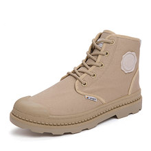 Best Verkopende Mannen Casual Canvas Laarzen Mode Man Casual Schoenen Wearable Flats Jong Canvas Boot Outdoor Antislip Militaire laarzen(China)