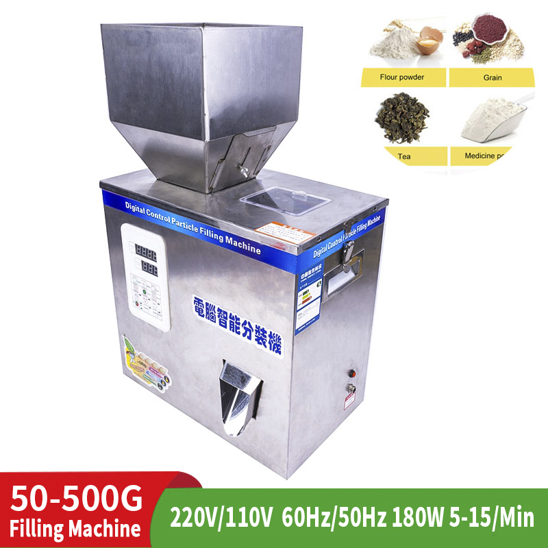 50-500G Automatic Measuring  Filling Granule Filling Machine Intelligent Automatic Weighing Filling Machine Powder Granule