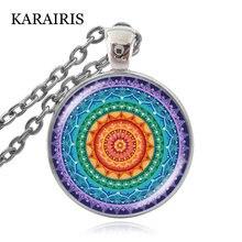 Karairis 7 Чакр Мандала искусственное стекло кабошон ручной