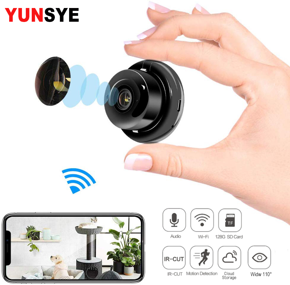 YUNSYE 1080P Mini Camera WIFI Camera Smart Home Surveillance Camera Infrared Night Vision Motion Detection Baby Monitor V380 Pro