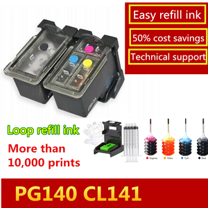 Image 2 - Popular In The Americas Pixma MG3610 Mg3610 Refillable Ink Cartridge PG 140 CL 141 Cartridge for Canon Pixma MG2580 MG2400 2500