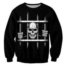 Ifpd eu/us Размеры модные ужас Толстовка 3d печатных тюрьмы