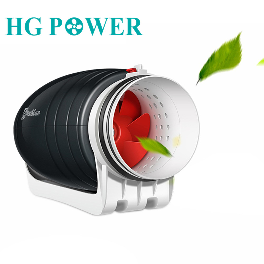 6''Ultra Silent Inline Fan Ducted Exhaust Fan Mixed-flow Hydroponic Extractor Fan For Residential Commercial Kitchen Ventilation