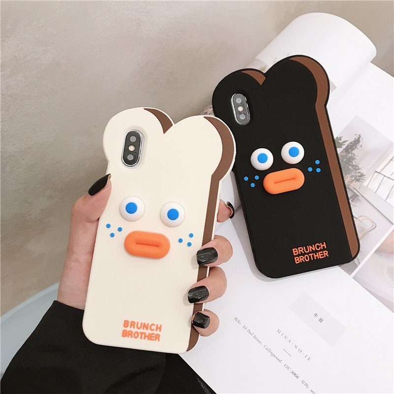 Cute Cartoon Bear Case for iPhone 11 Pro Max XR XS X 8 Plus 7G 6 Cute Cartoon Bear Case for iPhone 11 Pro Max XR XS X 8 Plus 7G 6 6S Toast Cases Pout Brunch Sausage Bear Cat Slicone Cover