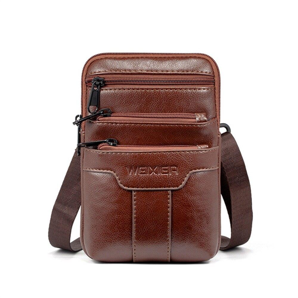 Fanny Pack Fashion Travel Waist Bag Men Belt Pouch Multifunction Outdoor Sport Belt Pouch Waist Pack Leather Men's Shoulder Bags
