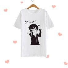 90s Camisa Da Forma T Das Mulheres Kawaii dos desenhos animados Imprimir Manga Curta O-pescoço T-shirt Ocasional Camiseta Harajuku Ullzang Top Tees Feminino