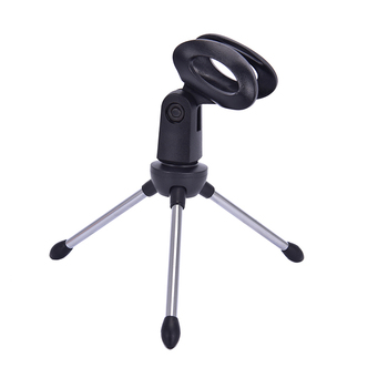 Mic Stand Bracket Desktop Adjustable Microphones Tripods Holder Mini Portable Table Tops Microphone Tripod Zinc Alloy 1