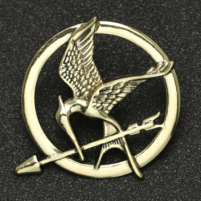 Hunger Games Brooch Pin Bird Eagle Arrow Logo Badge Vintage Fashion Hot Animal Game Movie Jewelry For Men Women Kids Wholesale