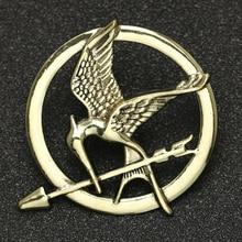 Hunger Games Brosche Pin Vogel Adler Pfeil Logo Abzeichen Vintage Mode Heißer Tier Spiel Film Schmuck Für Männer Frauen Kinder großhandel