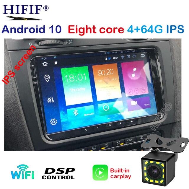 PX5 IPS DSP 4G אנדרואיד 10 2 דין רכב GPS נגן לאלטאה סיאט טולדו פולקסווגן גולף 5/6 פולו פאסאט B6 CC Tiguan טוראן רדיו לא DVD