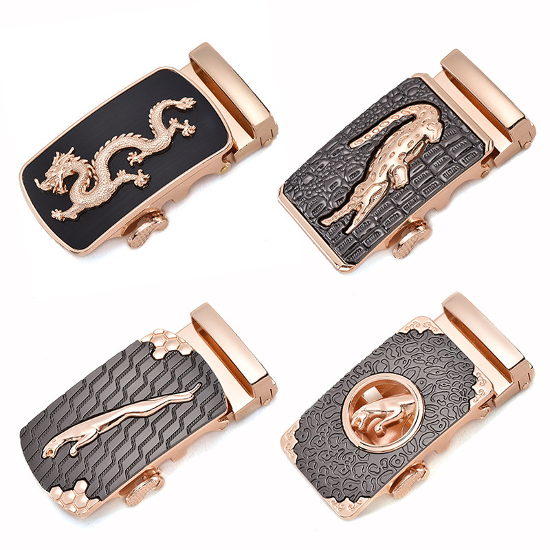 Fashion Men's Business Alloy Automatic Buckle Unique Men Plaque Belt Buckles For 3.5cm Ratchet Men Apparel Accessories G12540