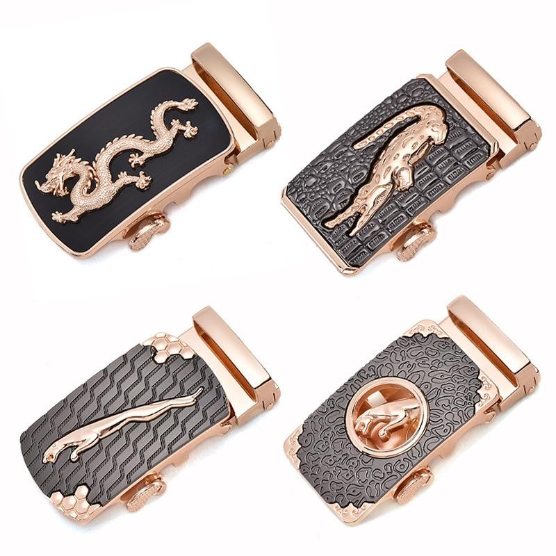 Fashion Men's Business Alloy Automatic Buckle Unique Men Plaque Belt Buckles For 3.5cm Ratchet Men Apparel Accessories G12540