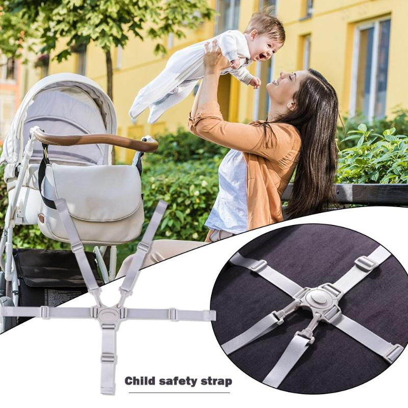 1pcs Chair Safety Seat Belts Universal Baby Dining Portable Waterproof 5 Point Harness For Stroller Accessories High Chair Props