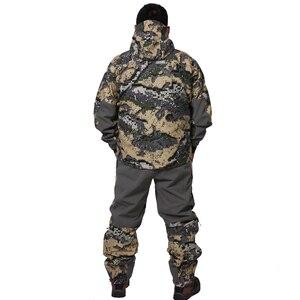Image 2 - 2019 avcılık suiCamouflage açık ceket erkekler su geçirmez av kıyafetleri rüzgarlık ceket ceket aynı paragraf sitka