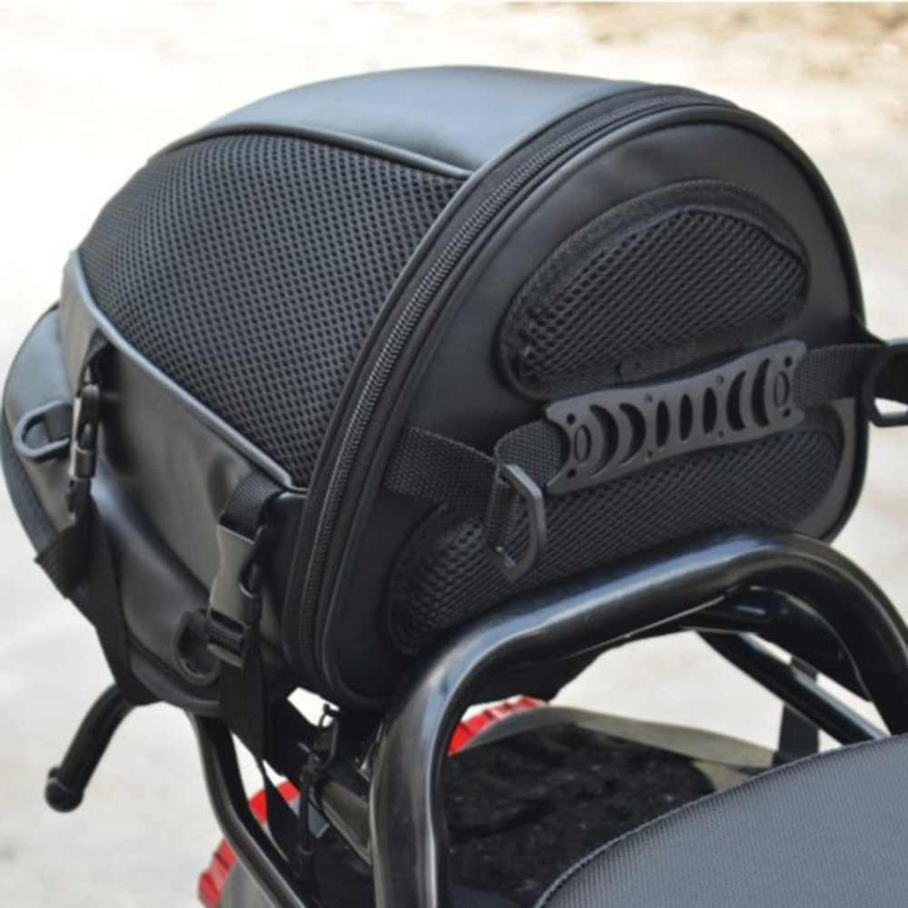 Gorgeri Bolsa de asiento de moto Scooter organizador de bolsa de asiento de motocicleta de cuero de PU