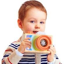 Toy Kaleidoscope Simulation-Toys Early-Educational Camera Kid Wood Decor Montessori Learning