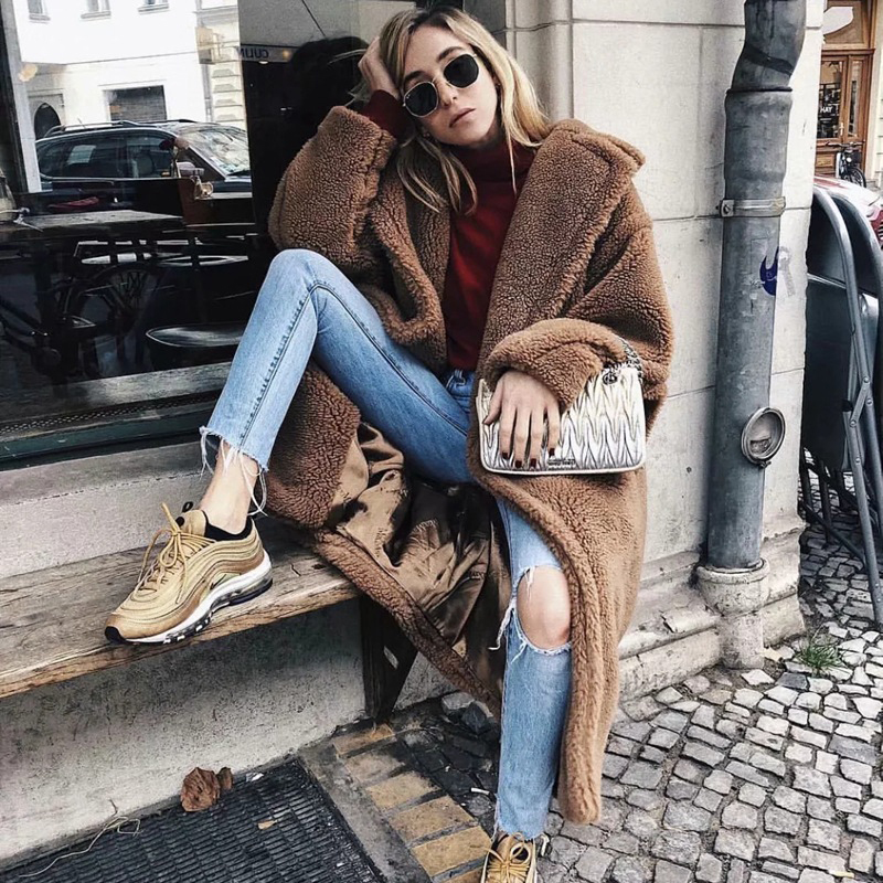 Winter Faux Fur Coat Women 2019 Casual Oversize Long Faux Fur Jackets Coats Thick Warm Loose Outwear Teddy Coat Casaco Feminino