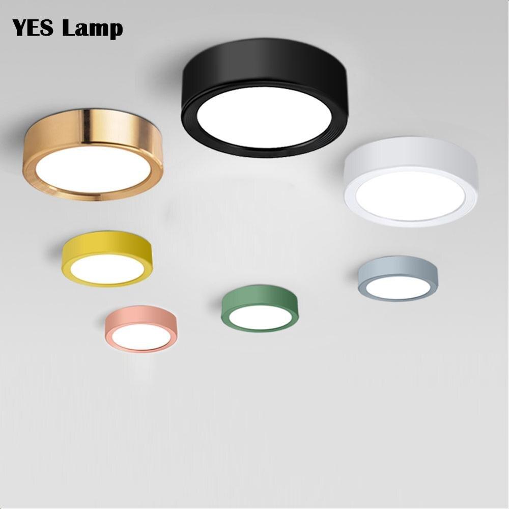 LED Downlight Surface Mounted Light 3W 5W 7W 9W 15W Macaron  Spot Lamp Bedroom Bathroom Kitchen Indoor Lighting 220V 240V