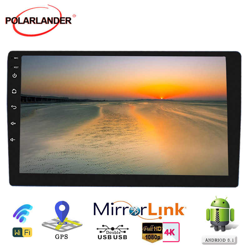 Mobil Radio WIFI Android 9.1 2 Din Multi Media 10/9 Inch Universal Bluetooth MP5 Player GPS Navigasi RAM1G ROM16G mirrorlink