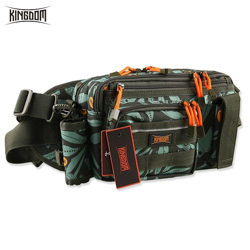 Kingdom Waist Shoulder Fishing Bags 9L 681g Multifunctional Lure Baits Or Reel Fishing Tackle Bag Waterproof Nylon Outdoor Bags