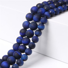 "15.5"" Matte Lapis Lazuli Tige Eye Stone 6 mm 8 mm 10 mm 12 mm Natural Round Beads For DIY Making Women Jewelry Bracelets Men(China)"