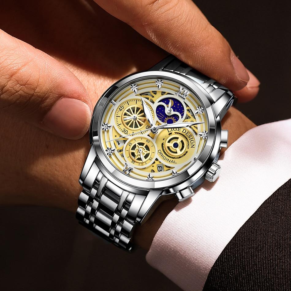 H32cc7eddc92044f5874197129e0c6c4cA LIGE 2021 New Fashion Men Watch
