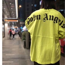 New Palm Angels T Shirt Men Women Streetwear Billie Eilish T-shirt Loog Sleeve Casual Vetements Tshirt Top Tee
