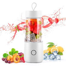 Portable Blender Personal Juicer With USB Rechargeable Cordless Juicer Mini Mixer With Cup Fruit Vegetable Juice Blender(China)