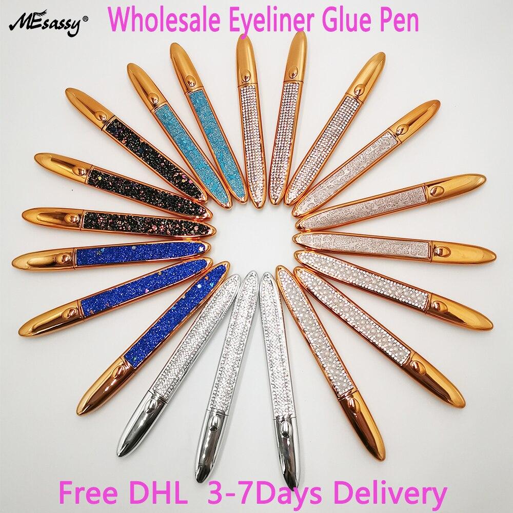 Lashes Glue Pen Wholesale Black Liquid Eyeliner Long-lasting Waterproof Quick-dry Eye Liner Pencil Pen Makeup For Eyelashes