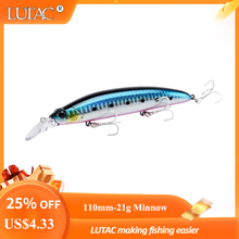 Lutac Wobblers Pesca fishing factory products hard plstic minnow lures floating 110mm 21.5g fishing minnow lures