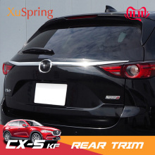 For Mazda CX 5 CX5 2017 2018 2019 2020 KF Car Rearguard Trunk Rear Bumper Tail Box Door Trim Stickers Strip Garnish Styling