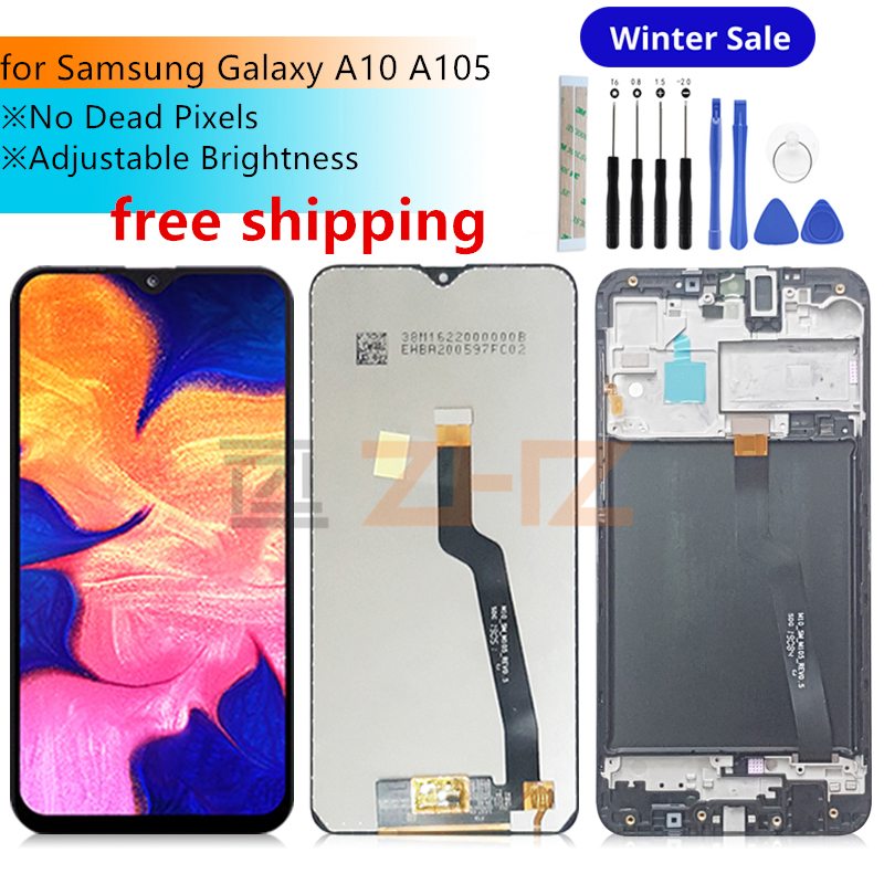 For <font><b>Samsung</b></font> Galaxy <font><b>A10</b></font> <font><b>lcd</b></font> A105 A105F SM-A105F 2019 <font><b>lcd</b></font> Digitizer Assembly with frame <font><b>a10</b></font> Touch <font><b>Screen</b></font> replacement Repair parts image