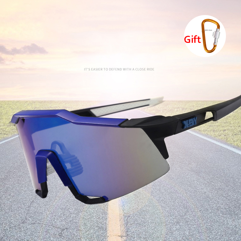 Men's Cycling Glasses Polarized UV400 Sunglasses Outdoor Bike Set Glasses 1 or 3 Pieces Windproof Sunglasses Sports Glasses