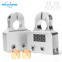 MICTUNING Car Battery Terminal Connectors Strong Versatility DC12V-24V Voltmeter 0 4 8 Gauge AWG Positive Negative Battery Clamp 1 pair car silver plated battery terminal set 2 4 8 gauge positive