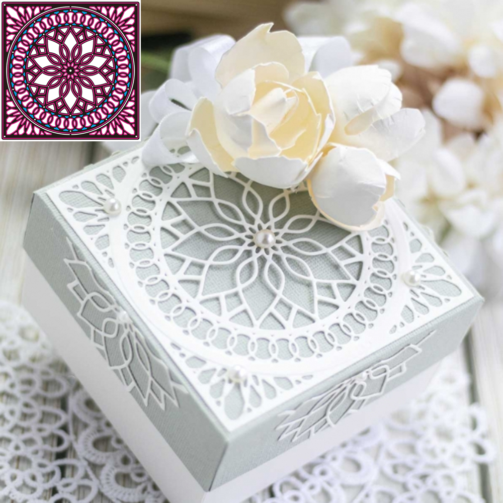 Hollow Frame Metal Cutting Dies Cutter Embossing Stencil Template Miss You Card Making  Scrapbooking Photo Album Decorative