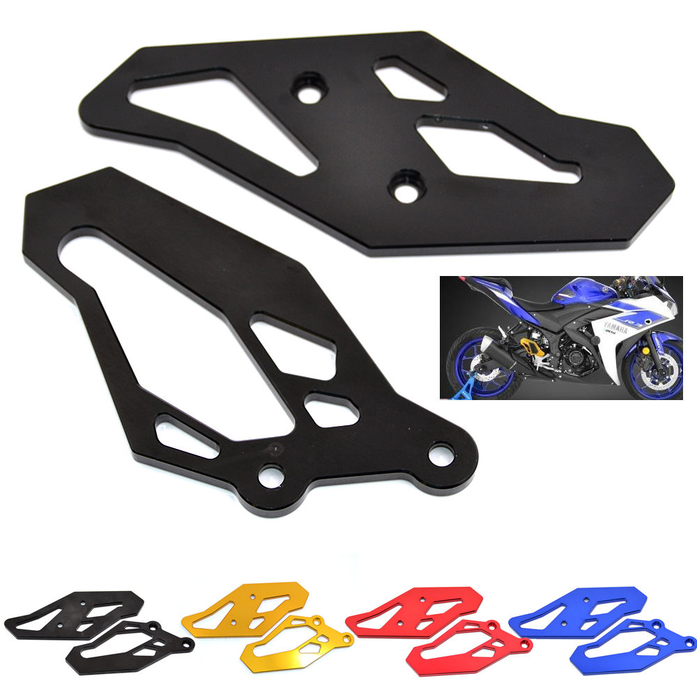 BJMOTO CNC Aluminum Footrest Rear set Foot Peg Plate Guard For <font><b>Yamaha</b></font> R3 2015-2018 R3 ABS 2018 R25 2013-2018 MT03 <font><b>MT25</b></font> 2015-2018 image