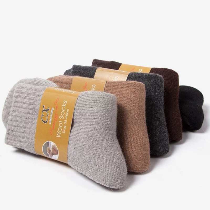 Winter Thickening Socks Triple Energy Needs Hot Men Wool Socks Plus Velvet Thick Socks