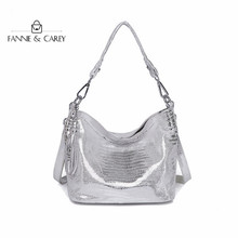 2020  New Luxury Silver Bags Women Handbag Quality Design Famous Brand Shoulder Clutch Chain Bags Leather Ladies Tote Bag Tassel 2018 new shaggy deer brand luxury shiny golden quality falabellas 3 chain fold over classical pvc handbag