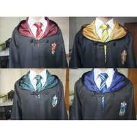 Costumi Cosplay Potter Abiti Veste di Magia Del Capo Vestito di Hogwarts Uniform Mantello Grifondoro Serpeverde Corvonero Tassorosso di halloween
