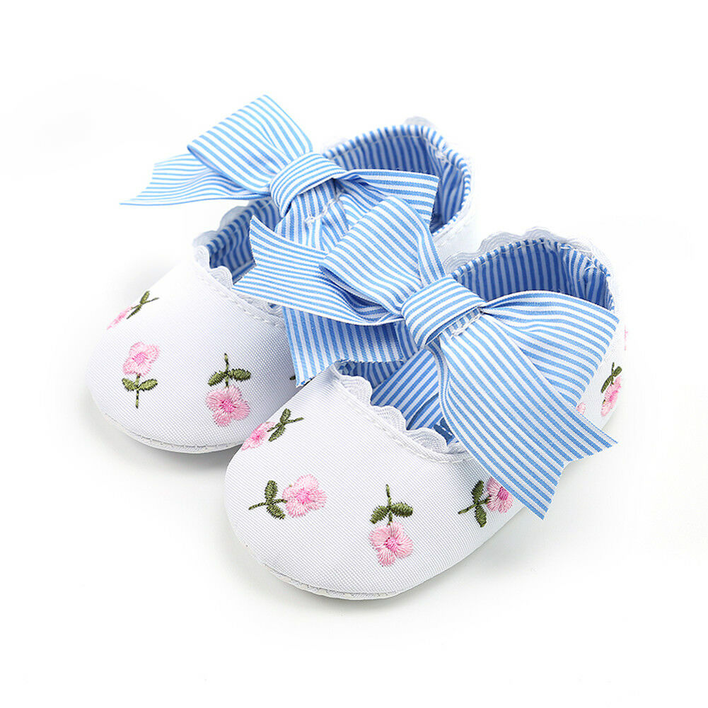 0-18M Flower Newborn Infant Baby Girls Shoes Princess Bow Floarl Crib Shoes Toddler Baby Girl Shoes
