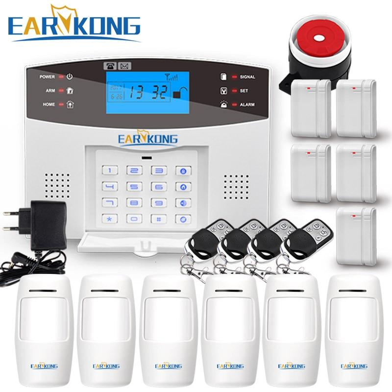 Système d'alarme sans fil GSM 433MHz maison cambrioleur alarme de sécurité capteur de porte capteur de mouvement alarmes Android IOS APP interphone sirène