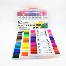 12 60 маркеры ручки с кисточками fineliners акварельные для