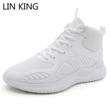 LIN KING New Men Sneakers Man Casual Shoes Unisex Couple