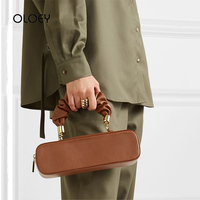 Vintage Rectangular Pleated Women Handbag 2019 New PU Leather Shoulder Messenger Bags Luxury Designer Lady Crossbody Bag Bolsos