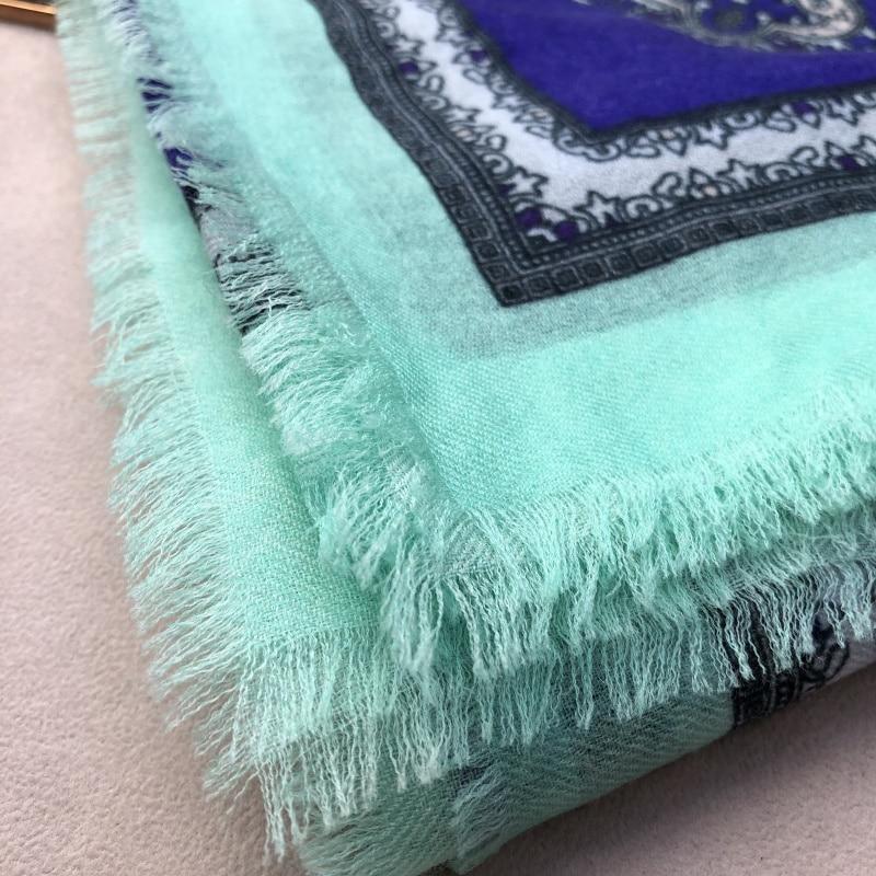 2019 nouveau Paisley impression écharpe femmes Pure cachemire foulards femme Bandana hiver doux châles enveloppes dame de luxe écharpe 200*100cm - 2