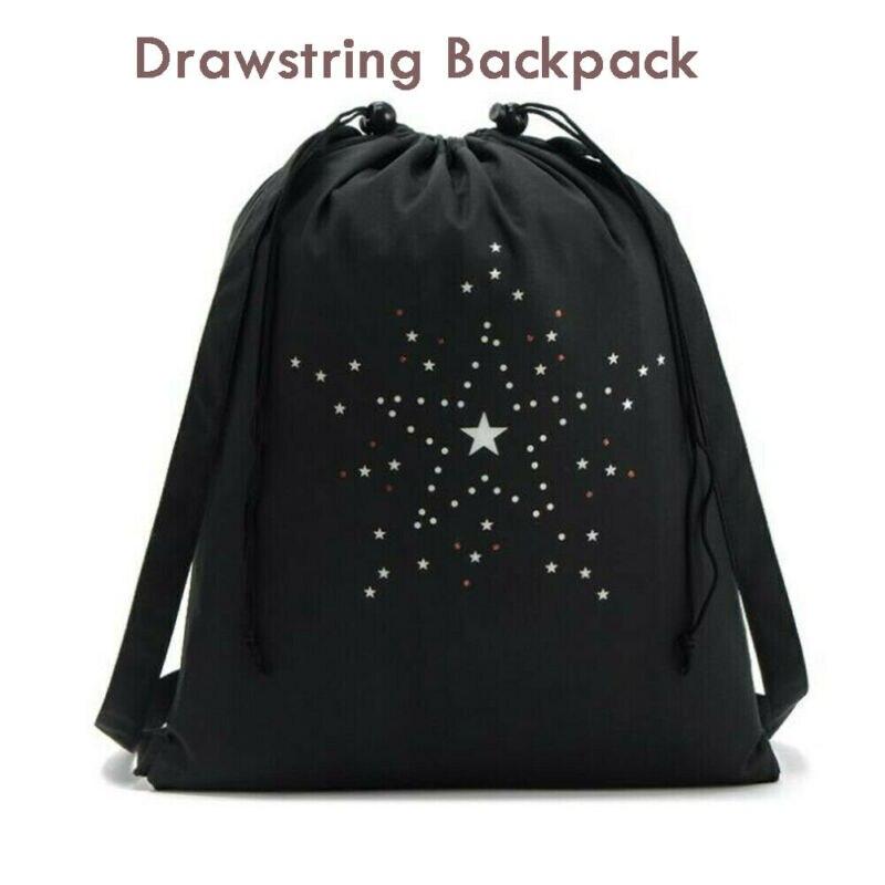 Waterproof Drawstring Bag Backpack Cinch Sack String Bag Gym Tote School Sport Packs  /BY
